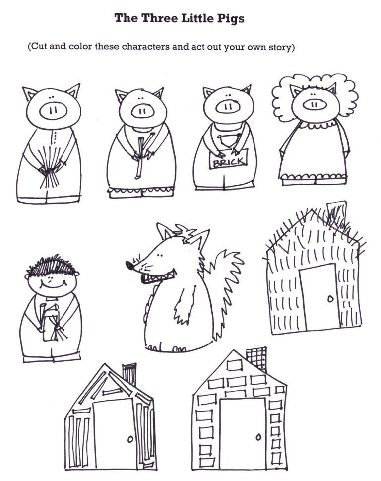 The Three Little Pigs Worksheets Little Pigs Three Little Pigs Fairy Tales Three little pigs worksheets