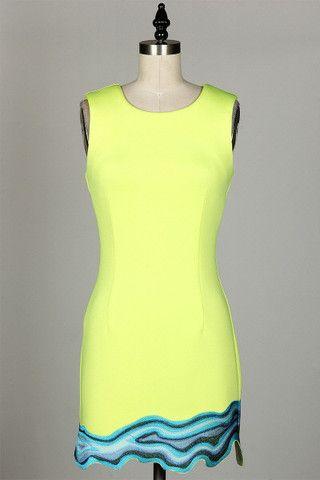 Pop scuba dress