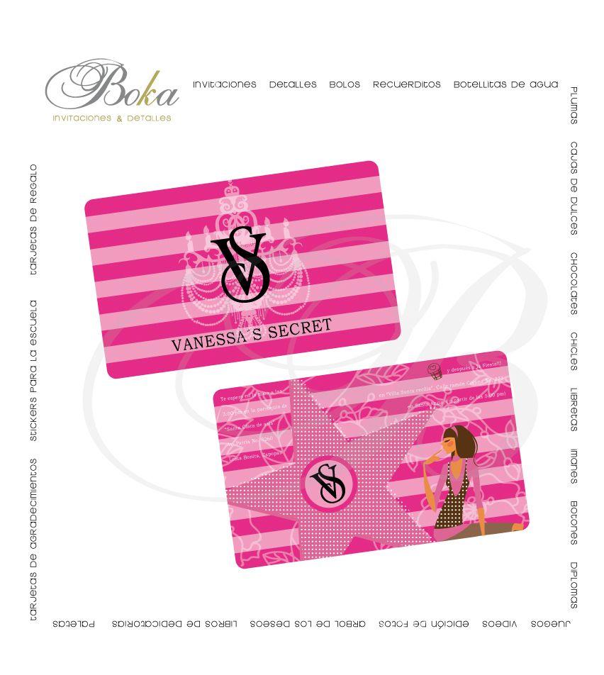 Invitaciones Victoria Secret Invitaciones Tematicas Xv Años