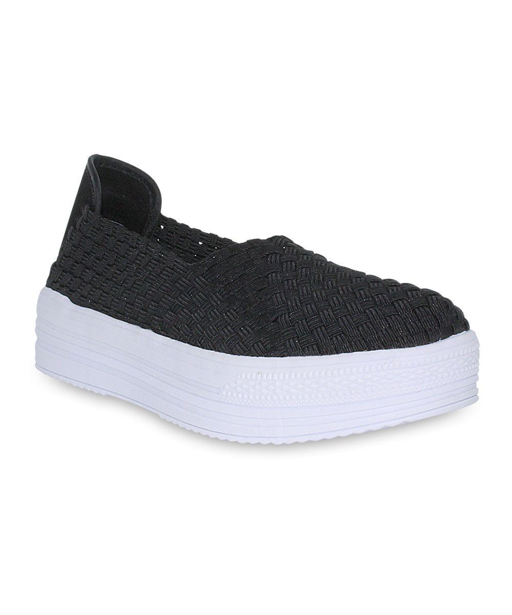 Black & White Platform Slip-On Sneaker