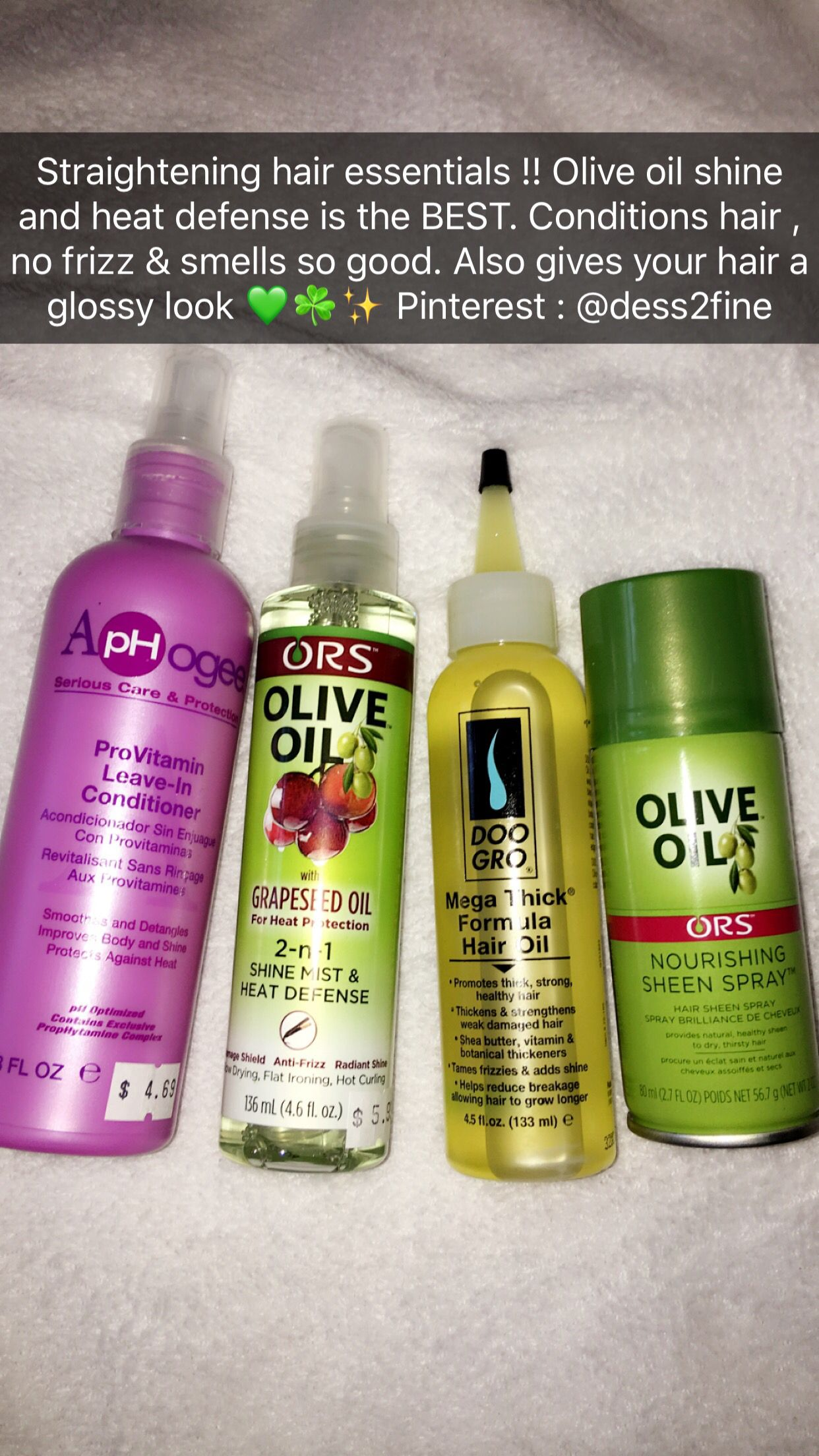 Hairproducts Haircare Oliveoil Straighthair