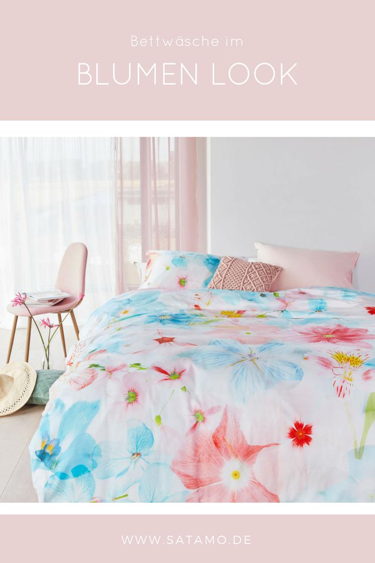 bettw sche mit blumenmuster im angesagten design schlafzimmer ideen bedroom house beds und bed. Black Bedroom Furniture Sets. Home Design Ideas