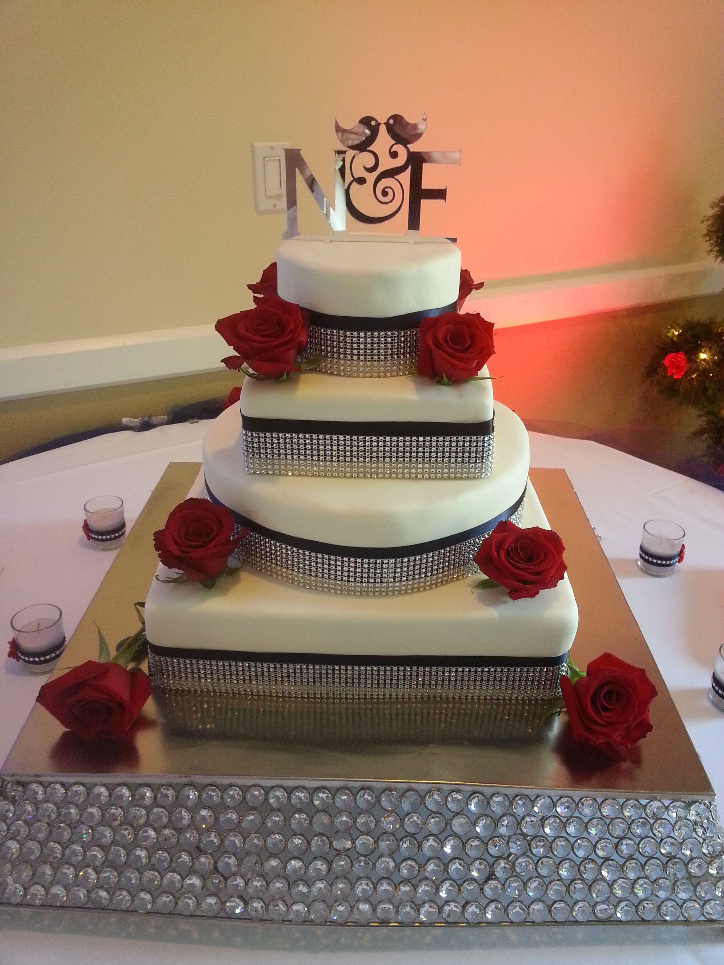 tier wedding cake bottom layer whitelemon filling nd layer