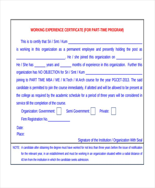 Work Certificate Templates 9 Free Word Pdf Formats