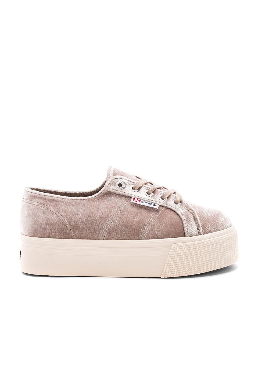 a5d534c0e52b Superga 2790 Velvet Platform Sneaker in Grey Velvet
