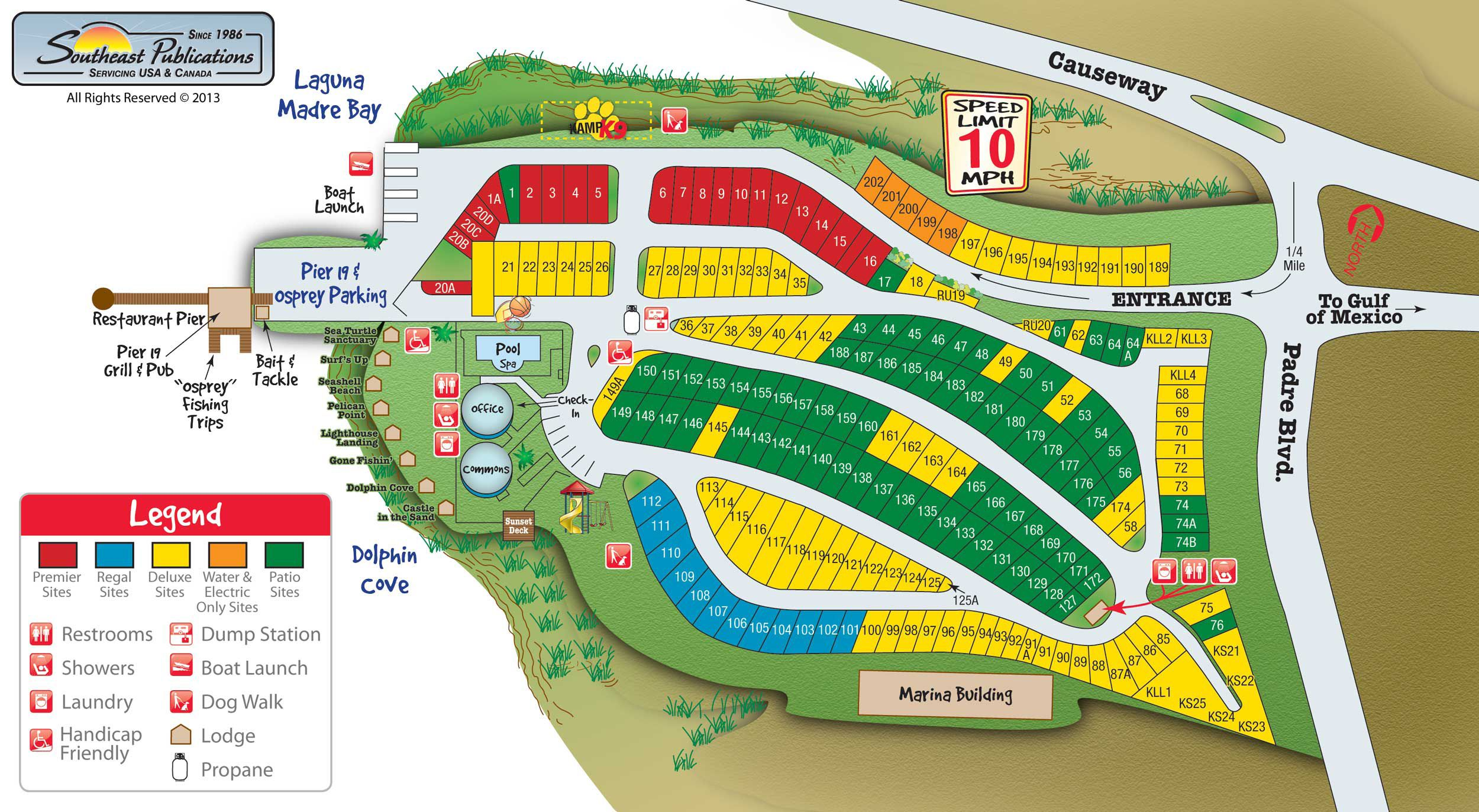 Activities Attractions And Events For The South Padre Island KOA - Rv parks usa map