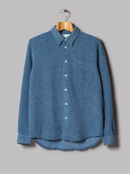 9aa76f0199e5 our legacy indigo terry cloth shirt   rad things   Our legacy, Mens ...