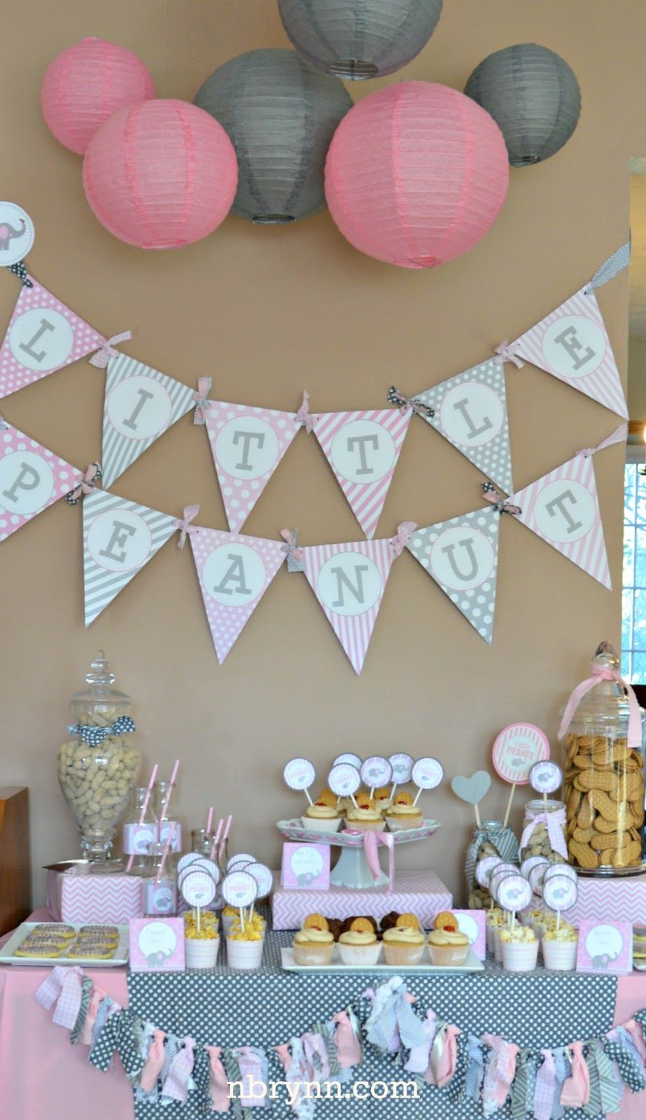 Nbrynn little peanut baby shower party ideas for Baby showers decoration