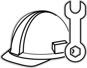 Clip Art Construction Hat Google Search Clip Art Construction For Kids Clipart Black And White