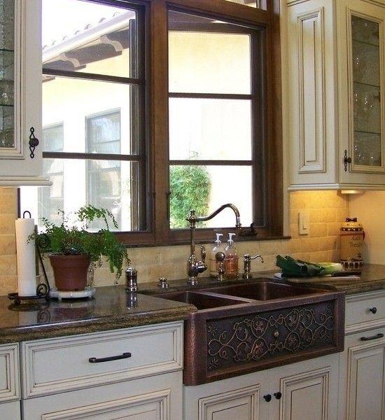 moderne-küche-einrichten-küchenspüle-stilvoll-spülbecken-zweifach-retro