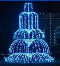 Outdoor 3d Fountains Light Led Christmas Motif Light Led Street Decoration Light Christmas Decorative Fountain Lights Water Fountain Fountain