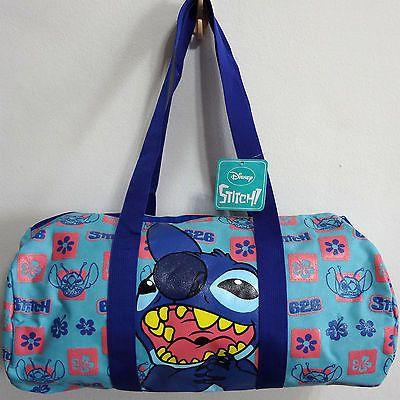 972d3913b37b Disney Lilo & Stitch Duffle Gear Gym Sport Travel Holdall Backpack ...