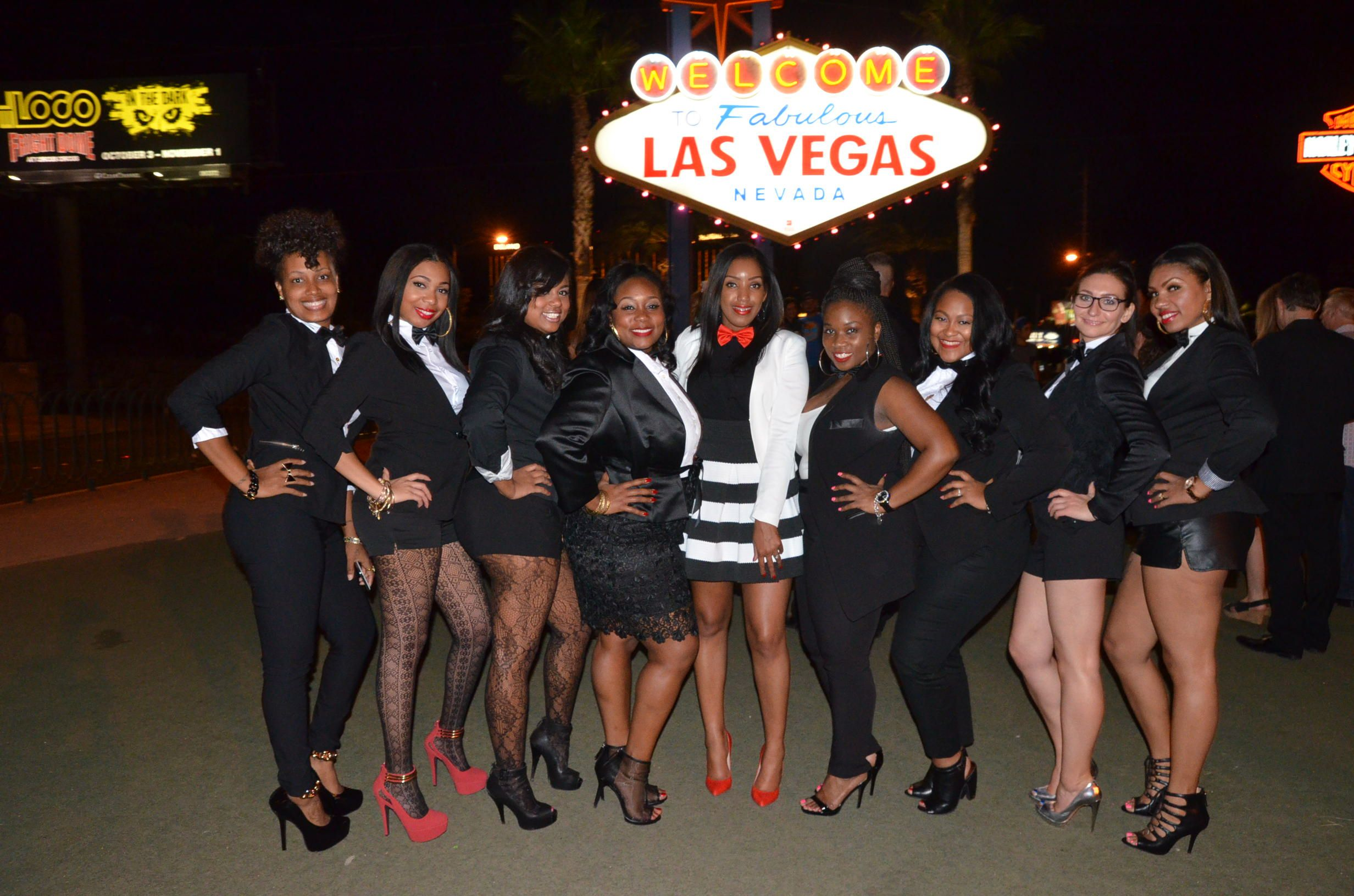Las Vegas Bachelorette Party outfits for the bride and wedding party!