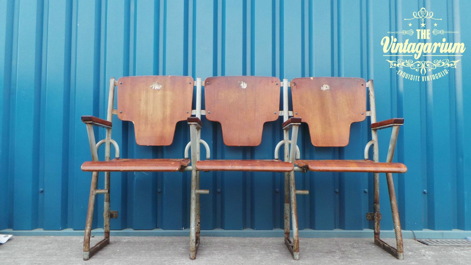 3 X Cinema Barber Shop Waiting Room Flip Up Seating Chairs Bench Ebay Antique Bench Chair Bench Bench