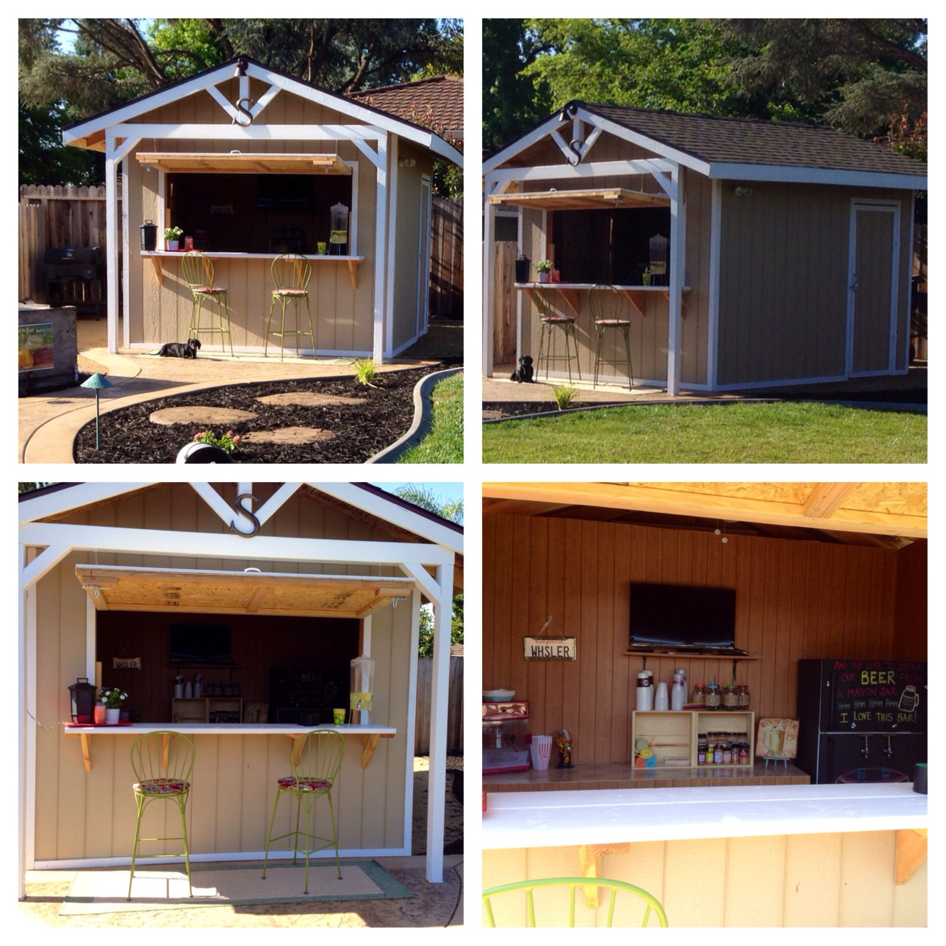 This is our custom made Party Bar Shed It s 10x12 with two doors