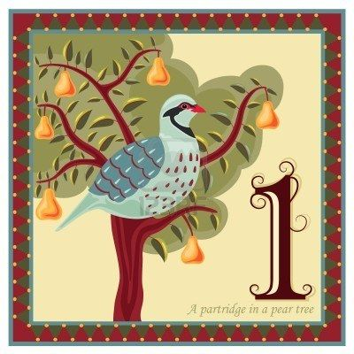 The 12 Days Of Christmas Partridge In A Pear Tree Christmas Illustration Days Of Christmas Song Christmas Vectors