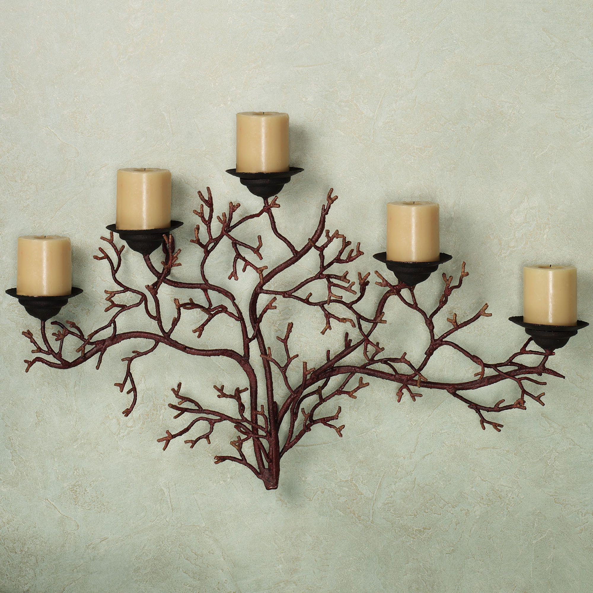 Coral Reef Wall Candelabra Burnt Red 45 Final Selection Lr