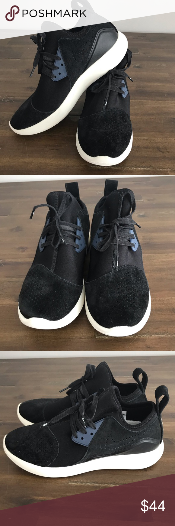Nike-Lunarcharge Black-Sail-Thunder-Blue Size 10 Nike-Lunarcharge-Premium- Black-Sail-Thunder-Blue-923281-014 Mens size 10 Nike Shoes Sneakers cb9a16440