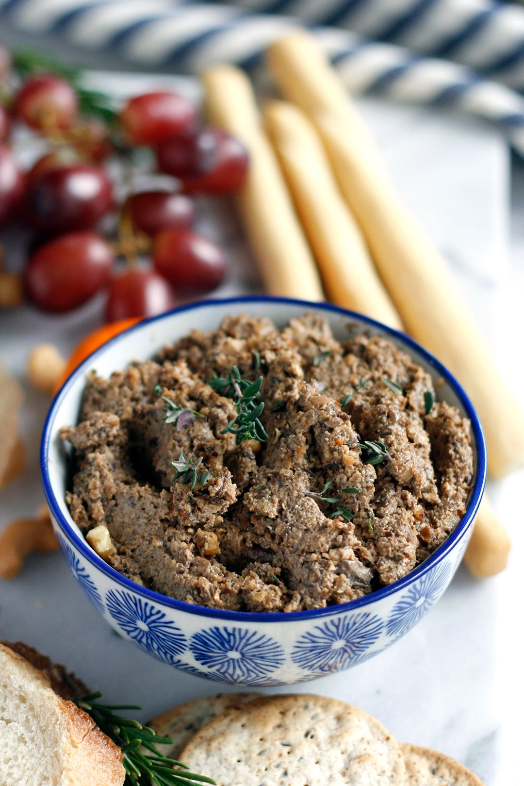 Vegan Mushroom Pate With Walnuts And Thyme Recipe Thyme Recipes Vegan Snacks Food