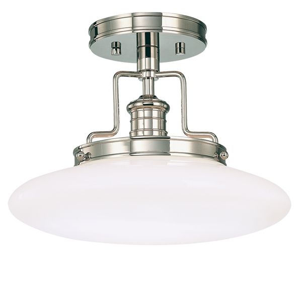 12 Edgerton Semi Flush Ceiling Light Polished Nickel Semi