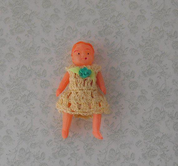 Celluloid Doll 2 1/4 inch