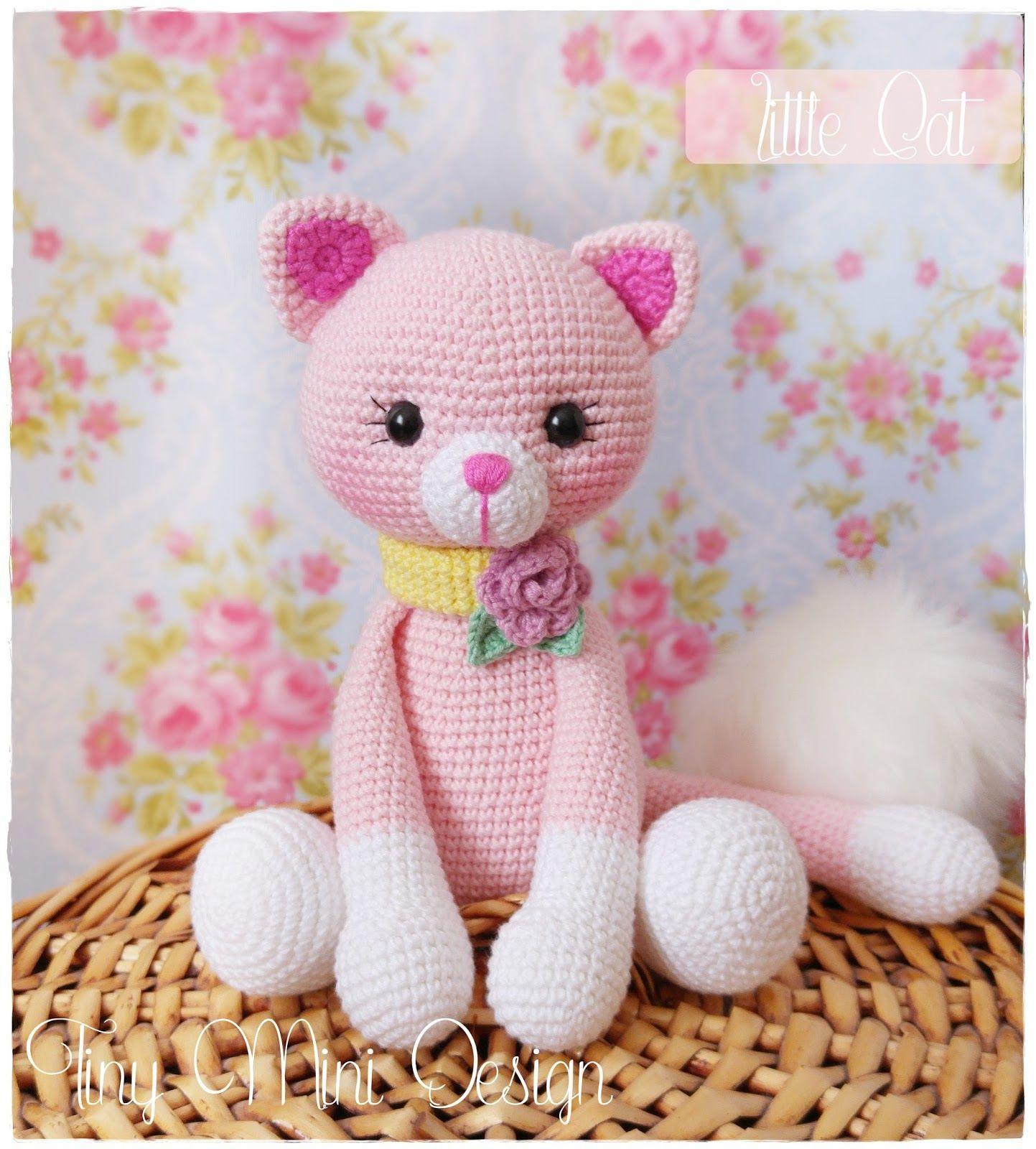 Amigurumi Pembe Kedicik- Amigurumi Pink Cat   Tiny Mini Design ...