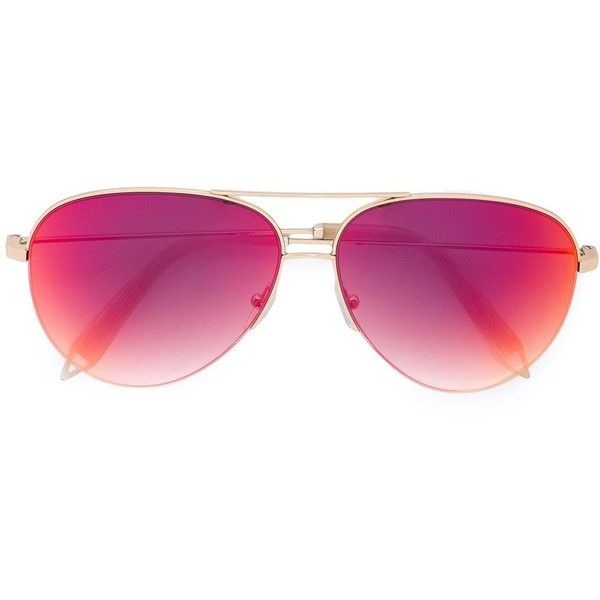 Victoria Beckham aviator shaped sunglasses ($435) ❤ liked on Polyvore featuring accessories, eyewear, sunglasses, grey, victoria beckham, aviator style sunglasses, victoria beckham eyewear, gray sunglasses and victoria beckham glasses