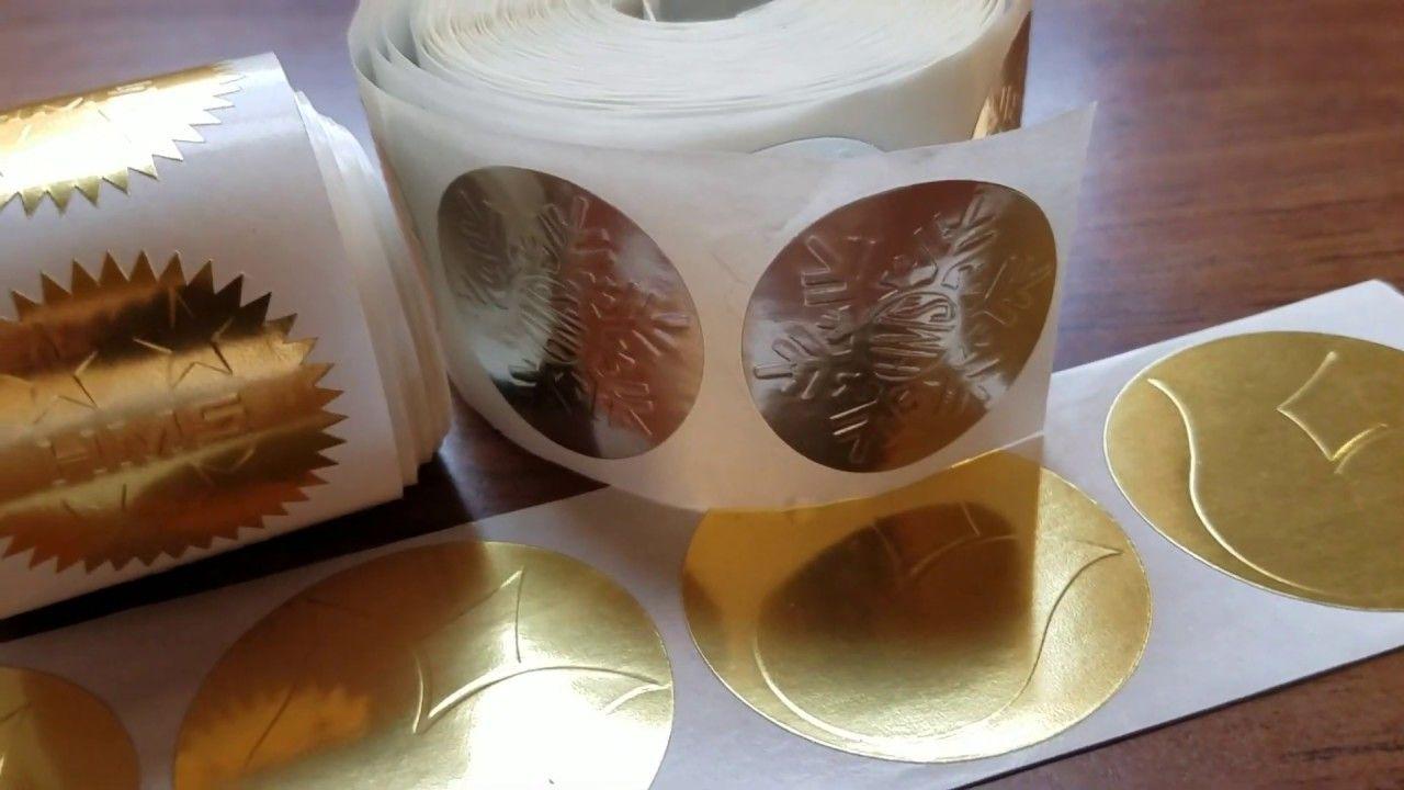 Review For Custom Embossed Foil Labels Printed