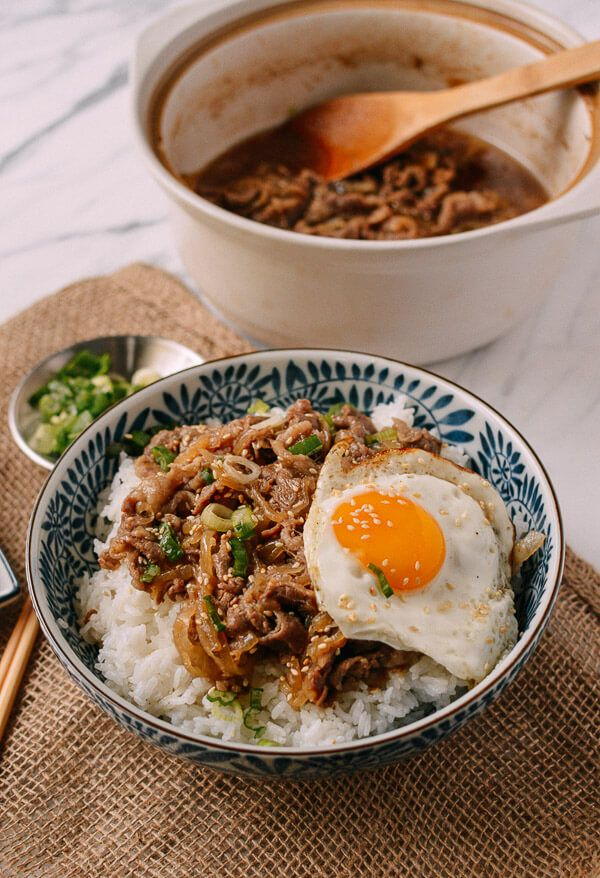 Gyudon Japanese Beef Rice Bowls Recipe Rice Bowls Recipes Japanese Cooking Beef Recipes