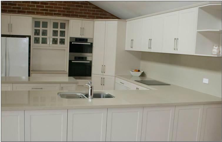 Beautiful White Melamine Kitchen Cabinets Image Ideas ...