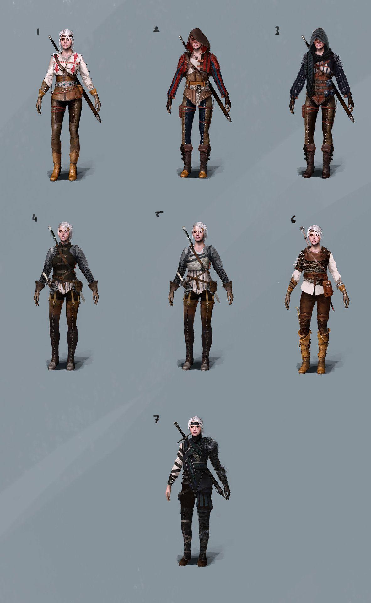The Witcher 3 Ciri Concept Art