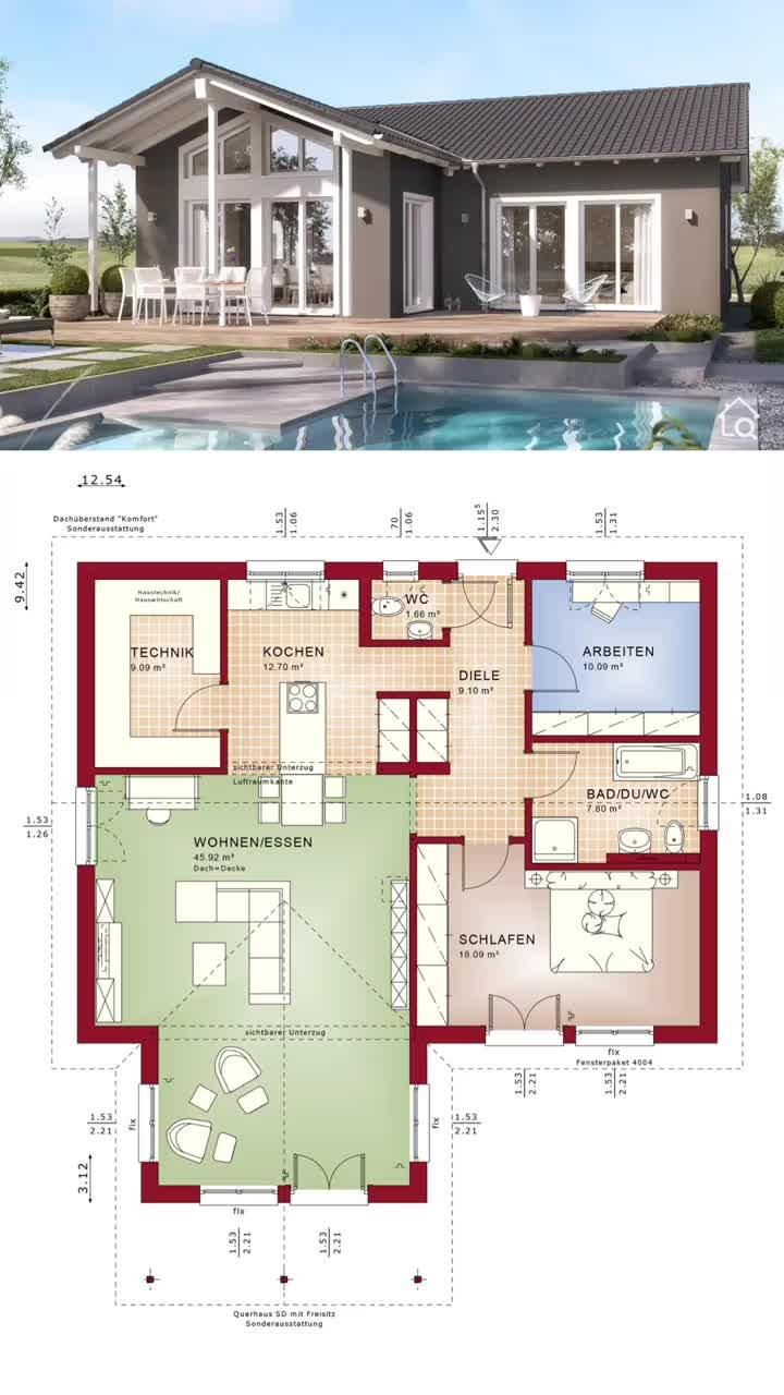 Bungalow House Floor Plans e Level Modern European Country Architecture Interior Design Ideas