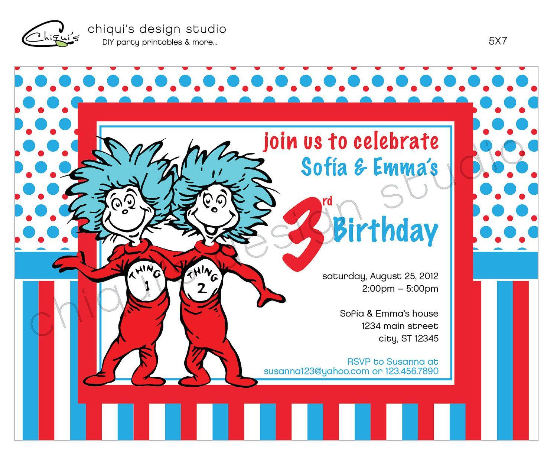 diy dr seuss invitations - Google Search   Birthday   Pinterest   Dr ...