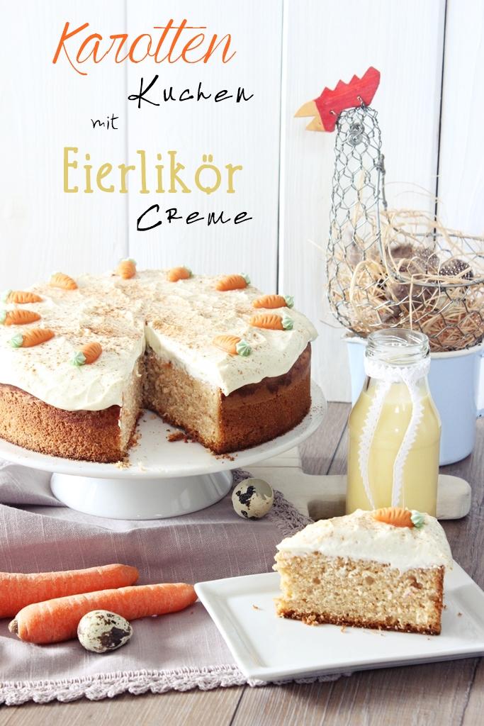 Karottenkuchen mit Eierlikör-Creme