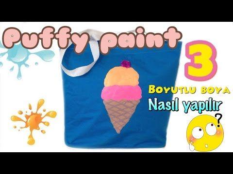 Diy Puffy Paint 3 Boyutlu Boya Nasil Yapilir Youtube Puffy