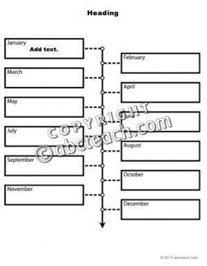 Graphic Organizer Templates  Monthly Timeline  Type In Templates