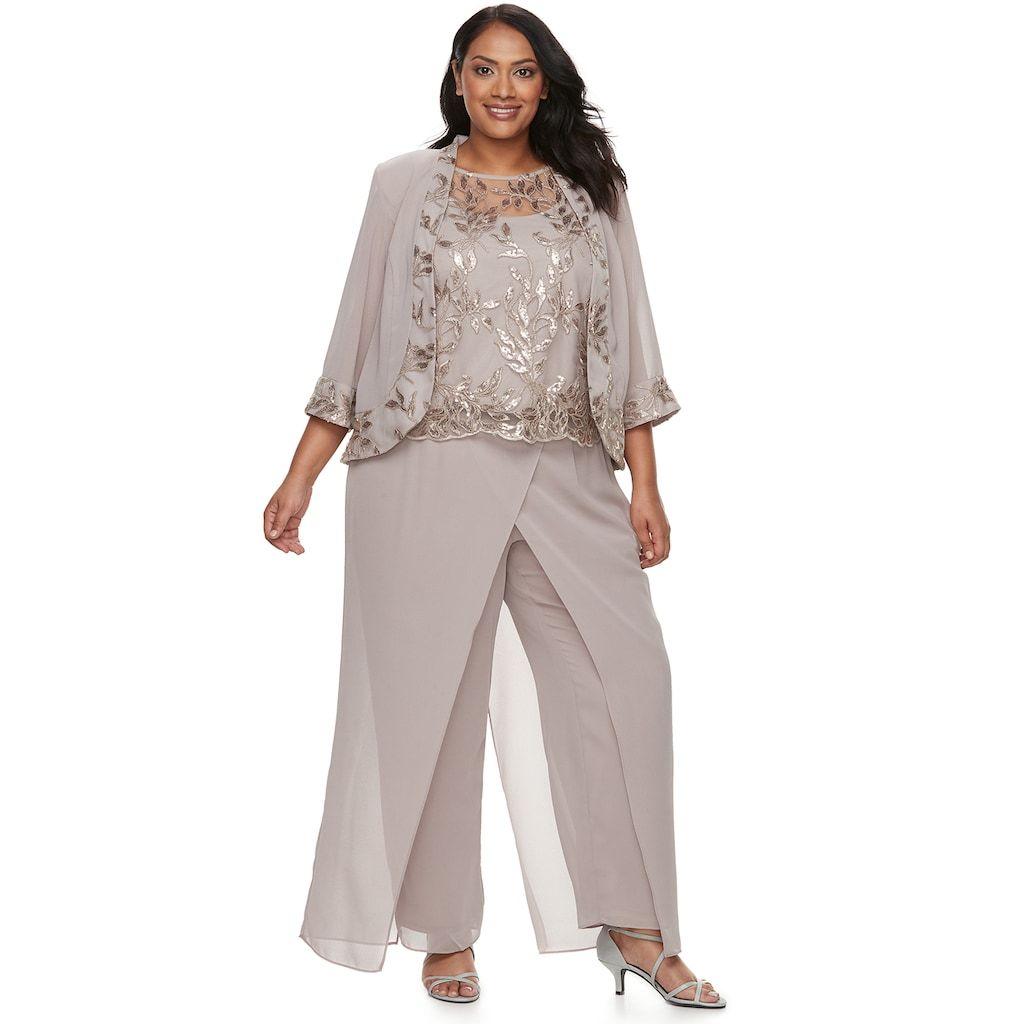 Plus Size Le Bos 3 Piece Pant Set Mother Of The Bride Plus Size Wedding Pants Outfit Mother Of The Bride Suits [ 1024 x 1024 Pixel ]