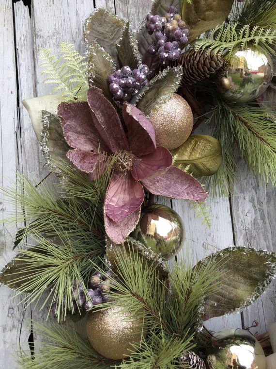 christmas wreaths victorian christmas wreath elegant wreath etsy - Christmas Wreaths Etsy
