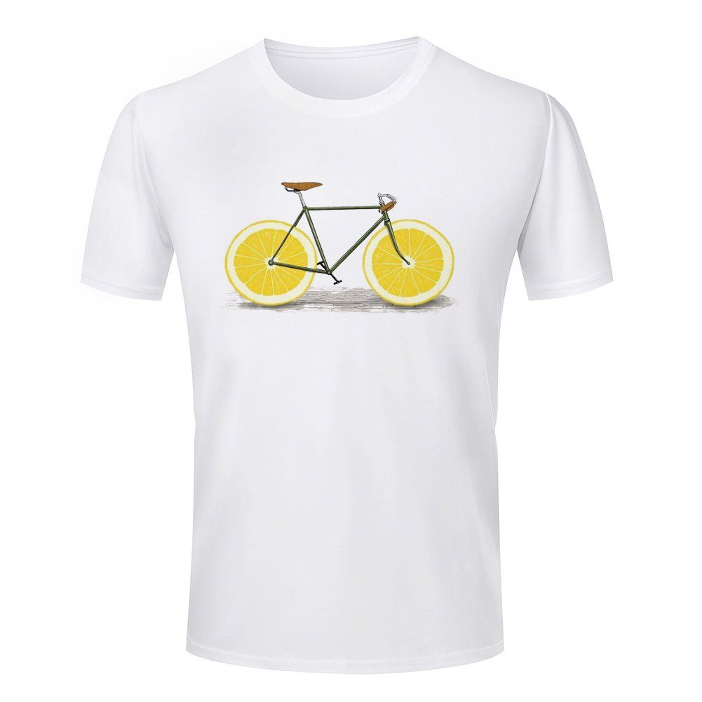 2ff2bc375cb2 Men s Lemon Bicycle Short Sleeve Round Neck T-Shirt -- Awesome products  selected by Anna Churchill