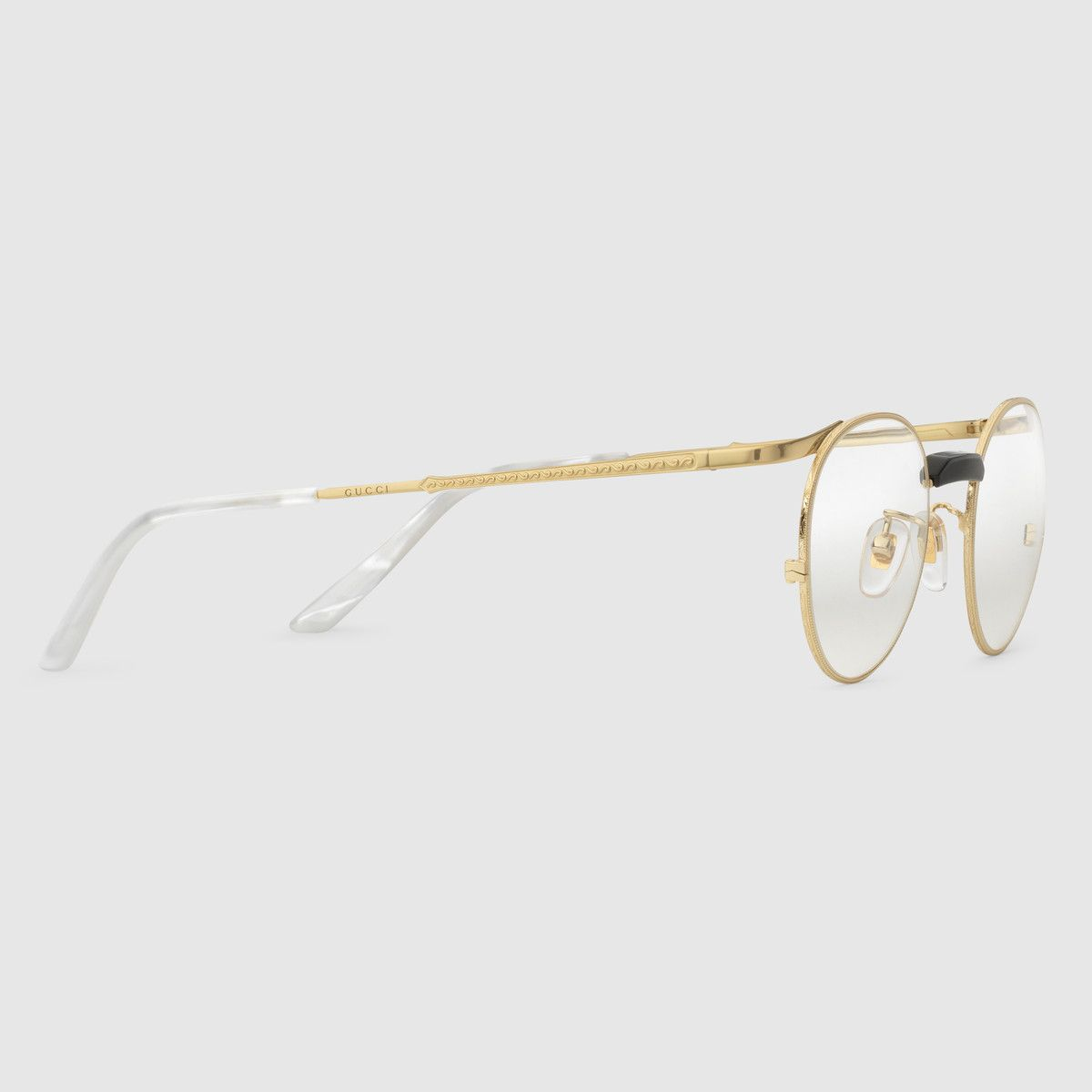 c4b114fd6 Gucci Round-frame metal glasses Detail 2 | Specs | Mens sunglasses ...
