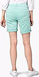 Tom Tailor Damen Tapered Bermuda Shorts, grün, unifarben, Gr