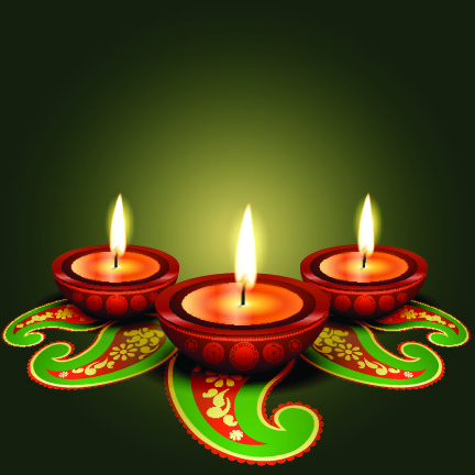 Happy Diwali Vector Free Template Of Postcard The Festival Lights Is Celebrated Throughout India Greeting