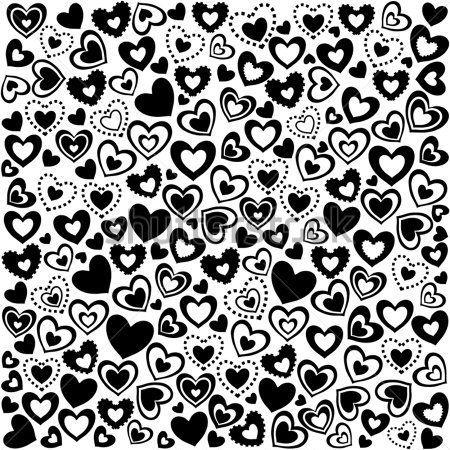 Papel decorativo blanco y negro de corazones buscar con - Papel de pared blanco y negro ...