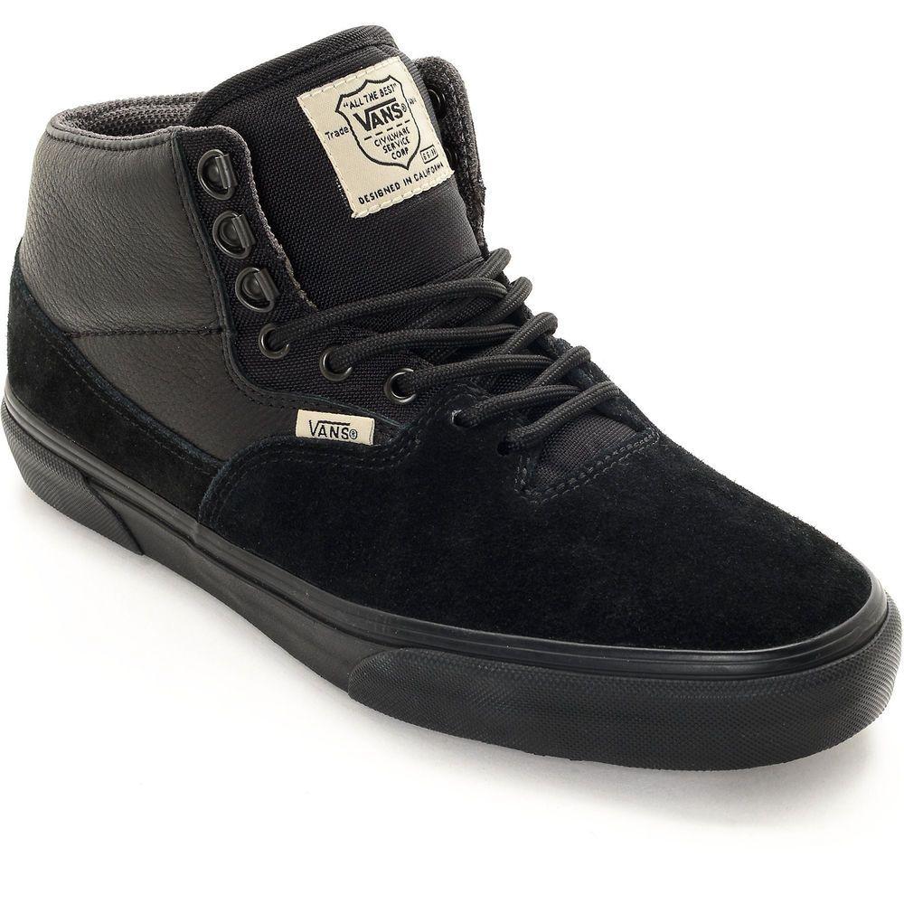 black vans uk 8