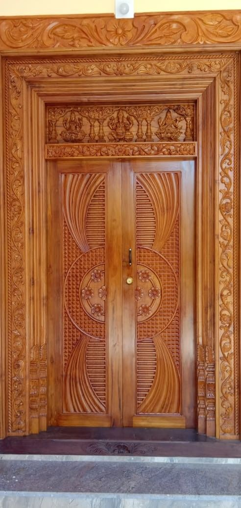 Pin By Mas Chamim On Wood Door Wooden Front Door Design Single Door Design Wooden Main Door Design
