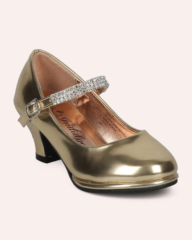 8b9049ce4293 Shoe Style Indulge Aeris-01A New Girl Patent Leatherette Round Toe Mary Jane  Kiddie Heel (Toddler   Kids)