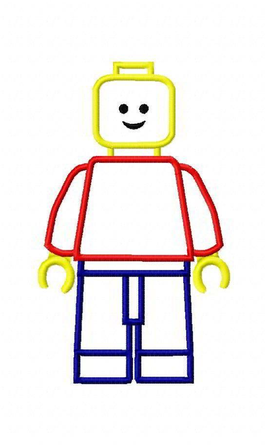Lego Man Machine Embroidery Applique Designs 1946   machine ...