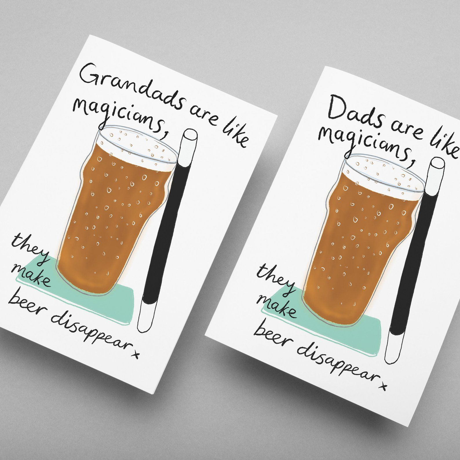 Dad Or Grandad Are Like Magicians They Make Beer Etsy Beer Card Beer Birthday Cards Funny Cards