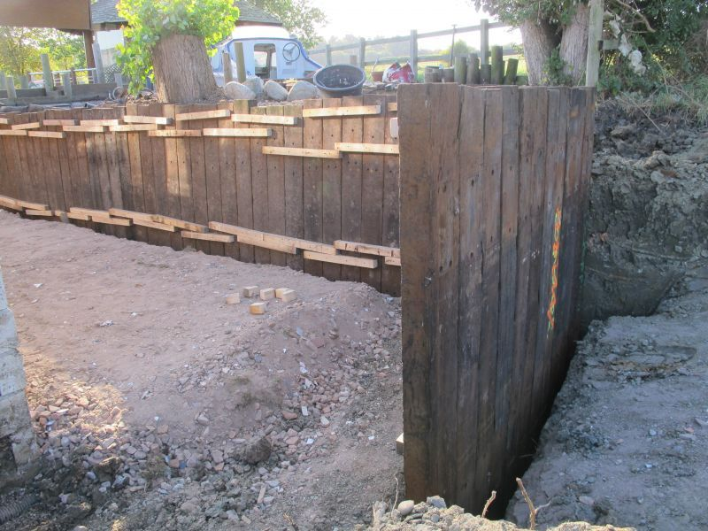 Retaining Wall With Azobe Railway Sleepers In 2019