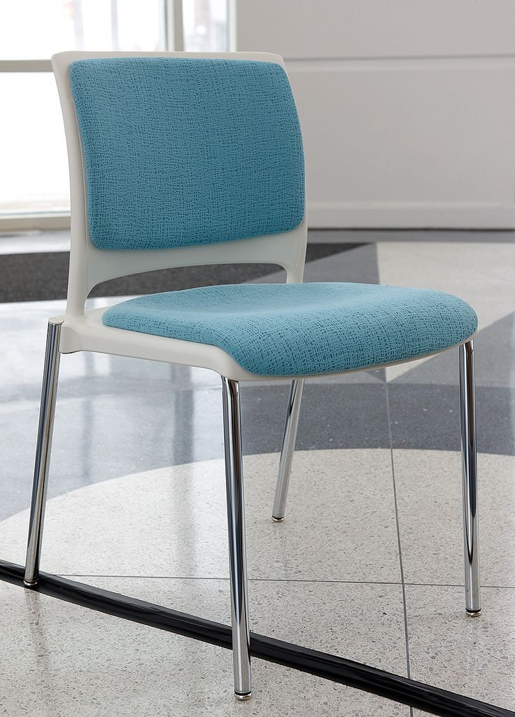 Ki S New Strive Stack Chair With Upholstered Seat And Back
